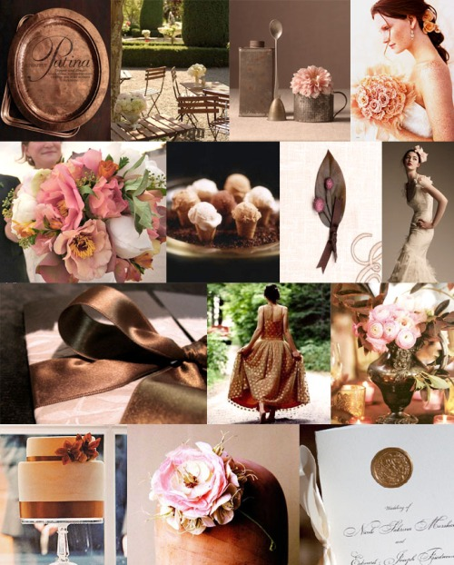 Pink and Copper Inspiration Board from Snippet & Ink