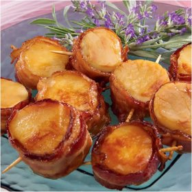 Bacon-Wrapped Scallops - Yum!